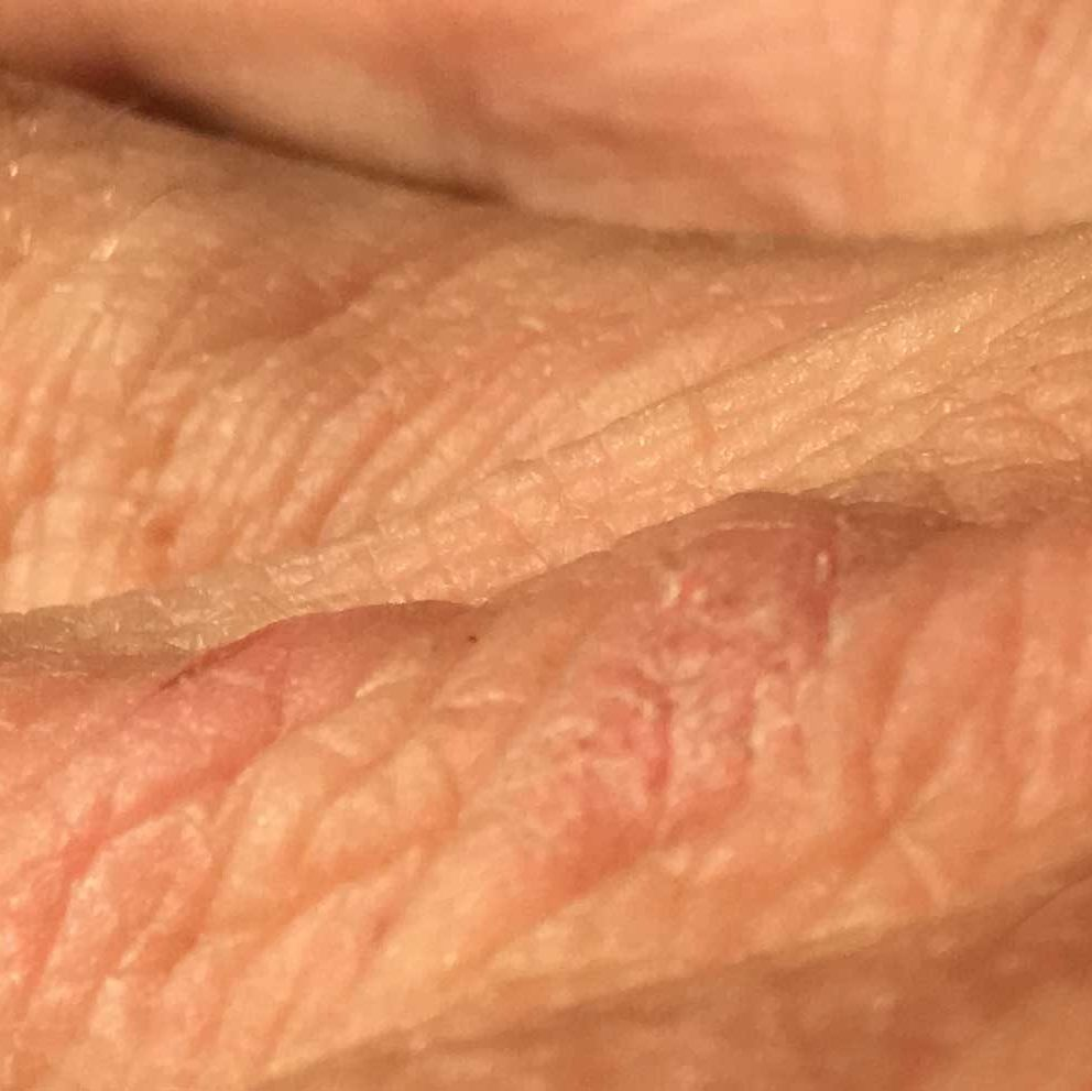close up texture of a hand